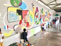 atelier , graffiti, enfant, primaire, maternelle, créatif, art