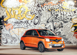 fresque, automobile, twingo